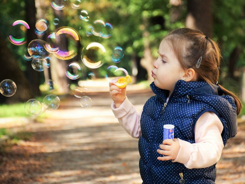 Aupair girl babysitting