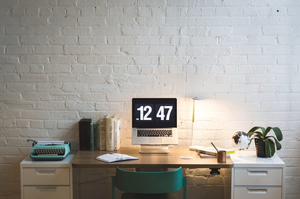 How to create the perfect home office laptop on table ready to work