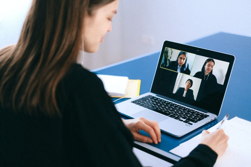 tools for a remote internship videocall with co-workers